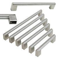 Modern Stainless Steel Boss Bar Cabinet Door Handles Drawer Pulls Brushed Nickel