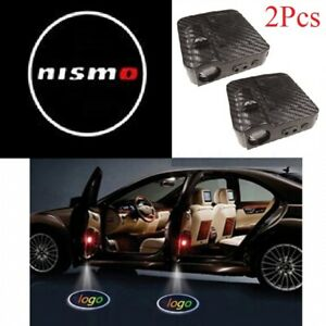 2x NISMO Wireless Car Door Welcome LED Shadow Lights Courtesy Projector Ghost CF