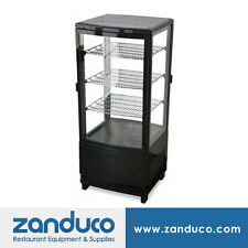 "Omcan 3 Cu. Ft. 17"" Countertop Refrigerated Showcase 2 Doors RS-CN-0078-D"