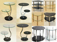 Chrome Round Side & End Tables with Flat Pack