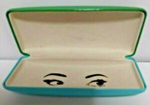 Kate Spade Green Blue Wink Wink Eyes Hard Shell Eye Glass Case