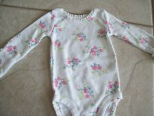 Girls newborn one piece outfit by Carter's, white with pink flowers, cute.