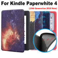 Cover Smart Case Protective Shell Leather For Kindle Paperwhite 4 10th Gen 2018