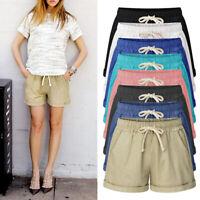 Plus Size Womens  Shorts Elastic Waist Summer Beach Casual  Loose Yoga Hot Pants