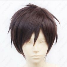 hot ! Attack on Titan Eren Jaeger Short Dark Brown Cosplay Wig Free shipping L48