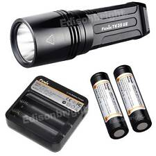 New Fenix TK35UE1800 Lumen Cree LED tactical Flashlight Battery & ARE-C1 Charger
