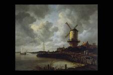 402046 Wijk Mill Near Duurstede Jacob Van Ruysdael A4 Photo Print
