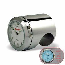 "Marlins Talon Motorcycle Handlebar Clock Push Button Backlit White 1 1/4"" Bar"