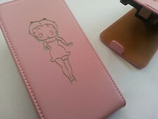 Nokia Lumia 925 BETTY BOOP LEATHER pink flip phone case cover