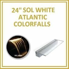 "Atlantic Water Gardens Waterfall Colorfalls 24"" w/ Sol White Led Lights Cf24Sw"