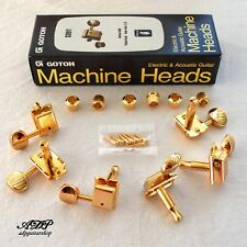 MACHINE HEADS VINTAGE GOTOH SD91 Tele Strat Tuners 6 Pegs in Line GOLD noLine