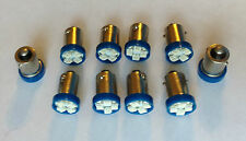 10 Chevy BRIGHT Blue 12V LED Instrument Panel BA9S 1815 Light Bulbs 1895 NOS