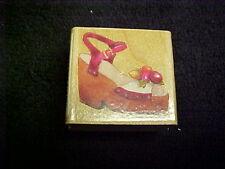Sandal With Flower Susan Branch Wood Back Stamp OOP