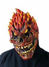 HALLOWEEN ADULT FEARSOME FACES FLAME  SKULL MASK PROP