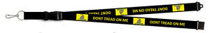 "32"" Black Gadsden Don't Tread on Me Printed Lanyard With Detachable Key Ring"
