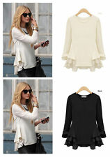 Unbranded Chiffon Long Sleeve Regular Size Tops for Women