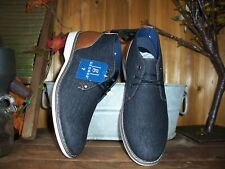 George Mens Denim Ankle Top Shoes Size 8 Casual Dress Memory Foam Formal New