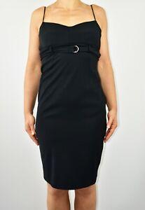 Karen Millen Black Slip Dress Club Holiday Casual 90s Strappy Summer Size 8 AM