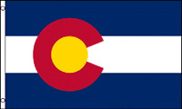 2x3 Colorado Flag 2'x3' House Banner grommets super polyester