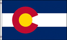 3x5 Colorado Flag 3'x5' House Banner grommets super polyester