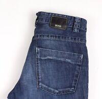HUGO BOSS Hommes Nevada Jeans Jambe Droite Taille W33 L32 AVZ1397