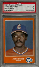 1981 Charlotte O's Team Issue Allen Edwards PSA 8 NM-MT Baseball Card POP 1