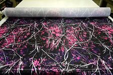 "MOONSHINE MUDDY GIRL BRIDAL SATIN FABRIC HUNTING CAMOUFLAGE 60""W CAMO SOLD BTY"