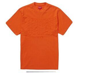 NEW SUPREME CUTOUT LOGO S/S TOP Orange SIZE L FW20KN16
