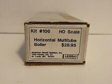 HO Scale American Model Builders Horizontal Multitube Boiler Laser Kit