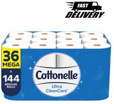 Cottonelle Ultra CleanCare Toilet Paper, Strong Bath Tissue(36 Mega Rolls, 340)