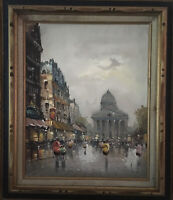 Antonio DeVity Oil Painting Italian Street Scene Framed Stamped Mid Century List