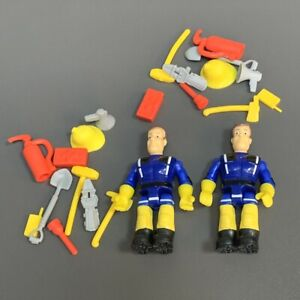 2PCS Fireman Sam and Accessory Set 2.5'' Action Figures Cake Toppers Toys Gift