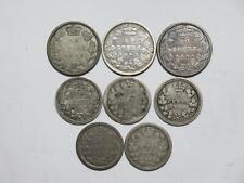 1858 CANADA & NEW BRUNSWICK 5 10 CENTS 1862 1864 VICTORIA SILVER COIN LOT 🌈⭐🌈