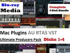 VST Plugins Mac OSX Complete 4 Disk Producers Pack Instruments Effects AU RTAS