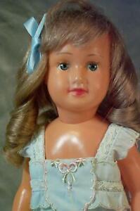 "HTF 11"" Societe Nobel Française Celluloid Doll w Human Hair Beautiful 1930's"