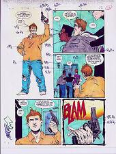 BATMAN SEDUCTION OF THE GUN COLOR PRODUCTION ART SIGNED STEVE MATTSSON COA PG 25