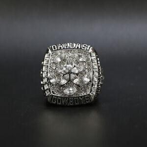 Dallas Cowboys 1995 Super Bowl Championship Silver Ring Replica With Wooden Box