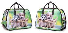 Women's Travel Bag Holdall  Luggage Large Weekend Handbag Wheeled Trolley Puppy