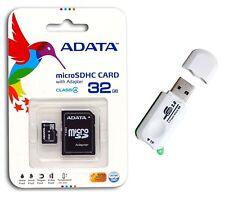 A-DATA 32 GB Mobile Micro SD Card MicroSDHC Class 4 Memory Card 32G +Card Reader