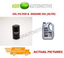 PETROL OIL FILTER + SS 10W40 ENGINE OIL FOR SUZUKI JIMNY 1.3 86 BHP 2004-