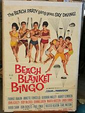 ORIGINAL MOVIE  POSTER Beach Blanket Bingo, Frankie Avalon, & Annette Funicello