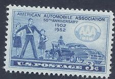 US stamp 1952 American Auto Association 50th Anniversary 3 cent stamp MNH