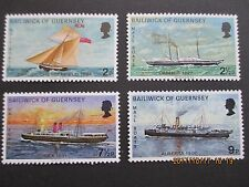 GUERNSEY 1972 MAIL PACKET BOATS 2nd SERIES SET OF 4 U/MINT