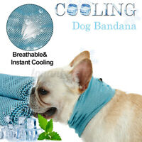 Pet Dog Cat Cooling Mat Pad Bed Cool Neck Scarf Bandana Chilly Heat Relief