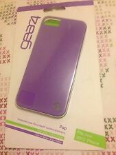 New Gear4 Pop Purple iphone 5 5S SE Clip On Gloss Hard Protective Case Cover