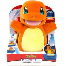 Pokemon Flame Action Lights & Sound Interactive Plush Charmander WCT New In Box