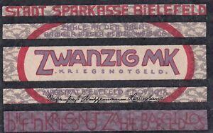 Germany 20 Mark 1918 Notgeld Token (C342)