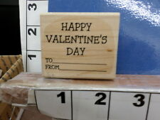 saying happy valentine to from love rubber stamp 3x