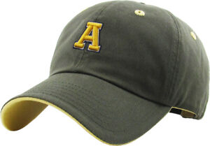 ABC Letter Embroidery INITIAL Olive Dad Hat Baseball Cap Adjustable