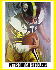 Pittsburgh Steelers 1960's Artistic Poster - 8x10 Color Photo